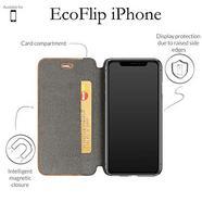 Capa WOODACESSORIES Ecoflip iPhone XS Max Castanho