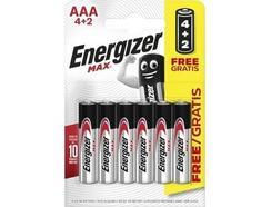 Pilhas ENERGIZER Max AAA BP6 4+2