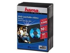 Arquivo DVD caixas HAMA Pack 10UN Slim