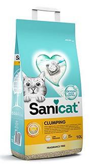 Areia para gatos Sanicat Clumping – 10L
