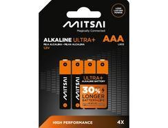 Pilhas Não Recarregáveis MITSAI LR3 (Ultra AAA – 4 Unidades)