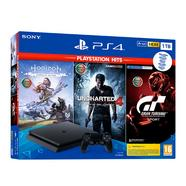 Consola PS4 Slim + 3 Jogos Playstation Hits (1 TB – Preto)