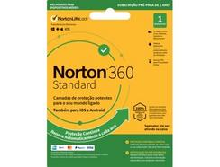 Software NORTON 360 Standard ESD 10GB (1 Dispositivo – 1 Ano – Smartphone e Tablet – Formato Digital)