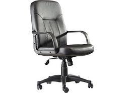 Cadeira Executiva PYC Villa Preto (Pele Sintética – Braços Fixos)