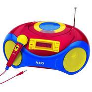Leitor de CDs portátil karaoke AEG SR 4363