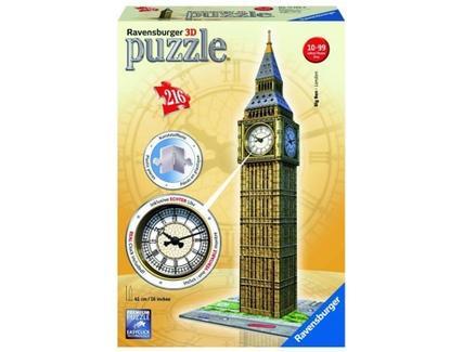 Puzzle 3D RAVENSBURGER Big Ben (Relógio Automático)