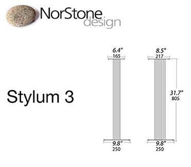 Suporte de Coluna NORSTONE Stylum 3 Branco