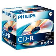 CD-R Philips 700 MB / 80 min 52x (1 unidade)