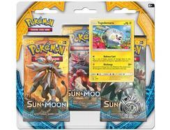 Pack Cartas Pokémon Sun & Moon Booster Blister (3)