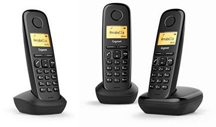 Telefone Sem Fios Gigaset A170 Trio – Preto