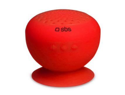Coluna Bluetooth SBS Ventosa Vermelha