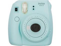 Kit Máquina Fotográfica Instantânea FUJIFILM Mini 9 (Ice Blue – Obturação: 1/60 sec – 2x Pilhas AA – 62x46mm)