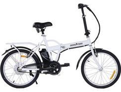Bicicleta Elétrica SKATEFLASH E-Bike Branca (Autonomia: 30 km / Velocidade Máx: 35 km)