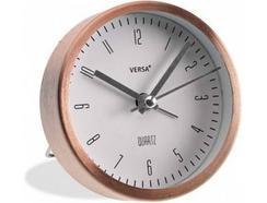 Relógio Mesa VERSA Despertador Cobre 9 cm