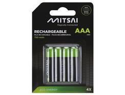 Pilhas Recarregáveis MITSAI RTU AAA 750mah x4