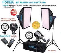 Kit Flash Estúdio FOTIMA FTF-180 X2
