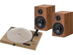 Conjunto Gira-Discos PRO-JECT Jukebox S2 + Box 5 S2 Nogueira