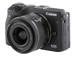 Máquina Fotográfica Mirrorless CANON EOS M3 (16 MP – Sensor: APS-C – ISO: 100 a 12800)