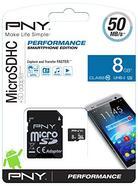 Cartão de Memória MicroSDHC PNY (8 GB – 50 MB/s – Class10)