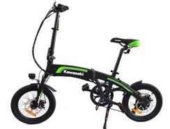 Bicicleta Elétrica KAWASAKI KX-F16 (Autonomia: 25 km | Velocidade Máx: 25 km/h)