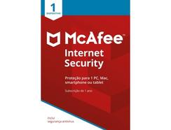 Software MCAFEE INTERNET SECURITY 1 Device