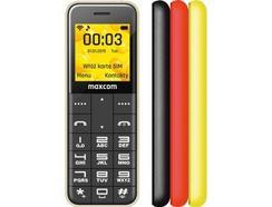 """Telemóvel Maxcom Classic MM111 (1.44"""" – 2G – Preto/Vermelho/Amarelo)"""