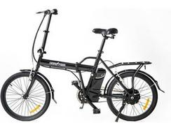 Bicicleta E-Bike SKATEFLASH Dobrável Preta
