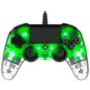 Comando Wired Compact Controller Iluminado Verde Transparente – PS4