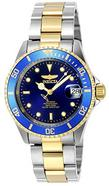 Relógio automático Invicta 8928OB Pro Diver com mostrador azul e bracelete em aço inoxidável cinzento e dourado