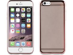 Capa MUVIT iPhone 6/6S Borde Rosa Cristais