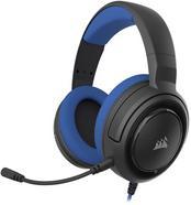 Auscultadores Gaming com Fios CORSAIR HS35 (PS4 / PC / Xbox One – Microfone – Azul)