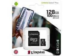 Cartão de Memória MicroSD KINGSTON Canvas Select Plus (128 GB – SDHC) + Adaptador