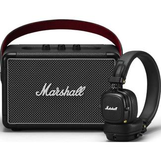 Pack Marshall Road Collection Coluna Bluetooth Kilburn II + Auscultador Bluetooth Major III