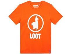 T-Shirt FORTNITE Orange Lama para 10 Anos