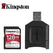 Cartão de Memória SD KINGSTON React Plus (128 GB – Class 10, UHS-II, U3, V90)