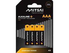 Pilhas Não Recarregáveis MITSAI LR3 (AAA – 4 Unidades)