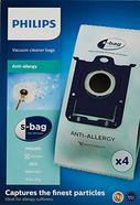 Sacos para Aspirador PHILIPS Anti-Allergy (4 uds – Compatibilidade: Aspiradores Standard Philips)