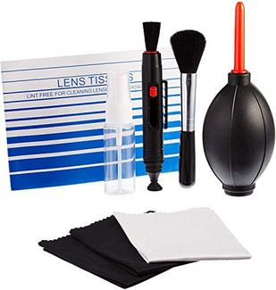 Kit de limpeza AmazonBasics para câmaras DSLR