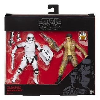 Star Wars: The Force Awakens Black Series Pack Figuras Riot Control Stormtrooper e Poe Dameron 15 cm