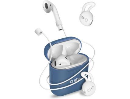 Kit protecção AirPods SBS Azul