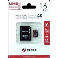 Cartão de memória S3+ Micro SDHC Class 10 – 16GB