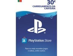 Cartão de Carregamento PlayStation Store 30 Euros