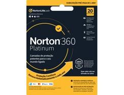 Software NORTON 360 Platinum ESD 100GB (20 Dispositivos – 1 Ano – Smartphone e Tablet – Formato Digital)