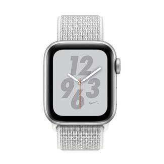 Apple Watch Nike+ Series 4 40mm – Alumínio Prateado | Bracelete Loop Desportiva Nike – Branco Cume