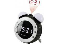Rádio Despertador SOUNDMASTER UR140SW (Preto / Prateado – Digital – Alarme Duplo – Função Snooze – Pilhas)