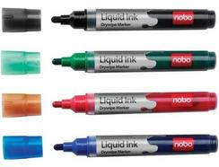 Pack 4 Marcadores NOBO Liquid Ink