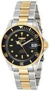 Relógio automático Invicta 8927OB Pro Diver com mostrador preto e bracelete em aço inoxidável cinzento e dourado