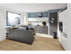 Cozinha Moderna Metal Grau Lux