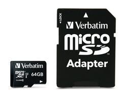 Verbatim MicroSDXC Pro 64GB Class 10 UHS-I com Adaptador