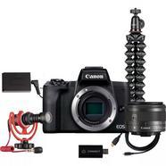 Kit de objetiva intermutável para transmissão em direto Canon EOS M50 Mark II
